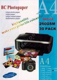 A4 Matte Photo Paper 260Gsm