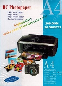 A4 Gloss Photo Paper 200gsm