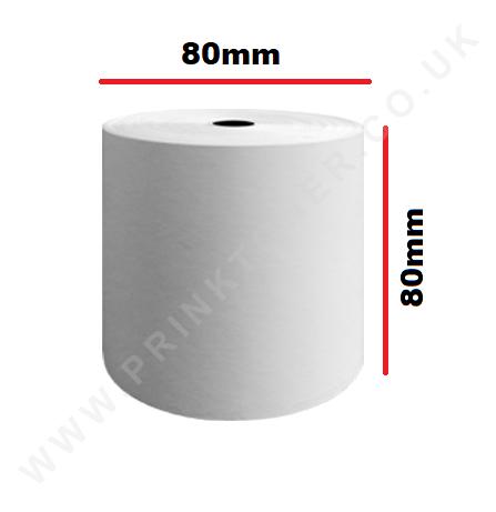 80 x 80mm Till Roll Cash Register Receipt Thermal Paper Rolls