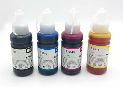 Epson Ecotank Ink Bottles Compatible Full Set T6641, T6642, T6643, T6644 -  Prinktoner Ltd
