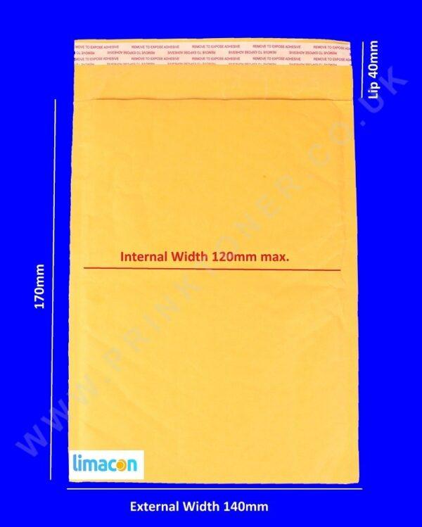 padded envelopes 140 x 170mm