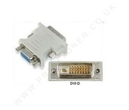 DVI-D Male 24 + 1 pin to VGA Female 15 pin