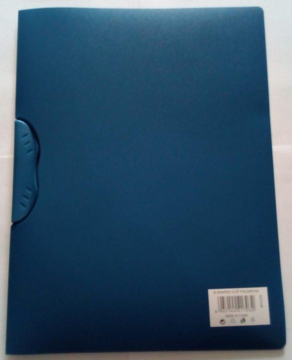 B shaped clip file folder